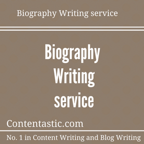 Biography Writing service