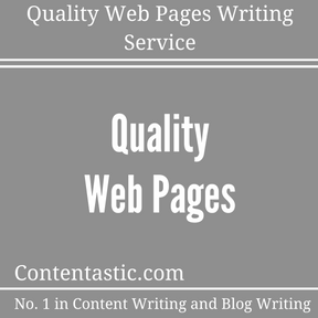 Quality Web Pages Writing Service